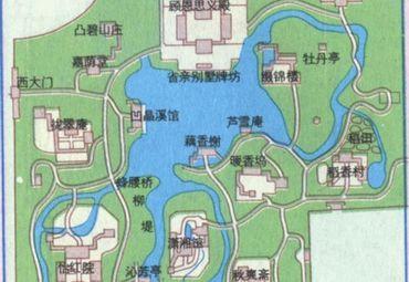 北京大观园园区导游图.