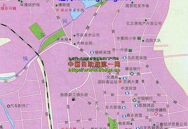 绥芬河市城区地图