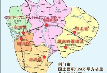 湖北荆门各县地理位置.