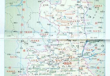 陕西省旅游地图