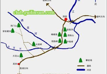 广西桂林阳溯导游图