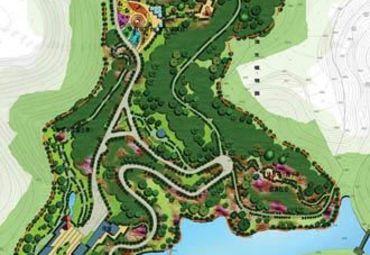 南山植物园导游图