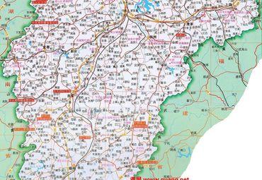 江西省旅游景点分布图.
