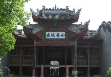 手绘商州古建筑图片