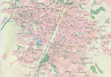 吉林省四平市城区地图