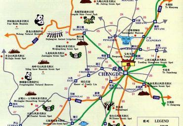 四川省景点分布地图