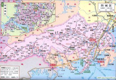 【防城港地图】防城港全图查询图片