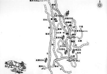 三江并流风景区地图