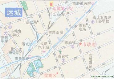 山西运城市区地图