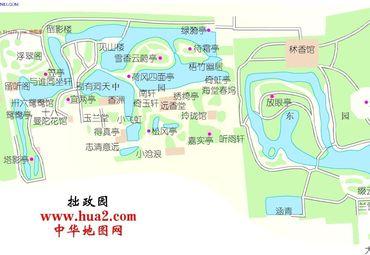 江苏苏州拙政园景点分.