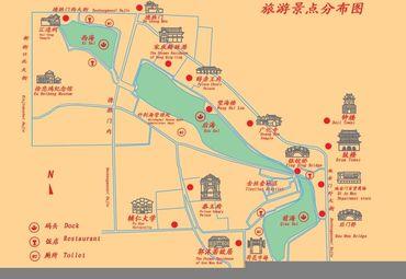 北京市什刹海景点分布.