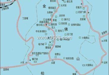 重庆南川金佛山导游图.