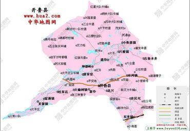 开鲁县地图