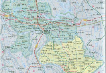 三国详细地图全图高清版_湖北荆州市地图图片