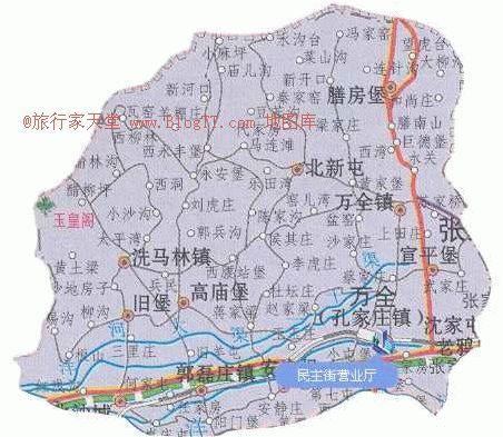 张家口万全区地图