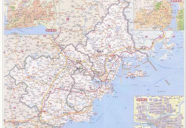 广东潮州市 汕头市 揭阳市 市区地图