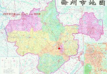 安徽滁州市地图
