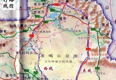新疆喀纳斯旅行路线图.
