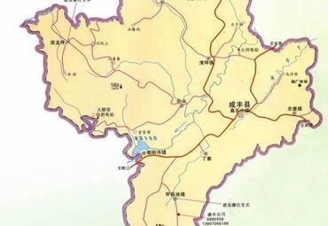 湖北恩施市咸丰县地图.