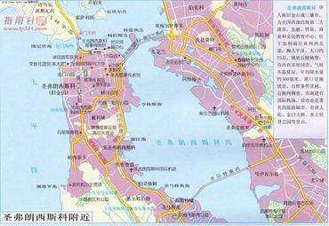 美国圣弗朗西斯科城区地图