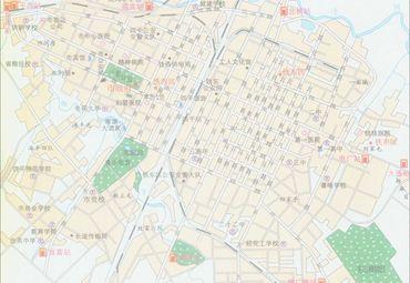 四平地图高清全图