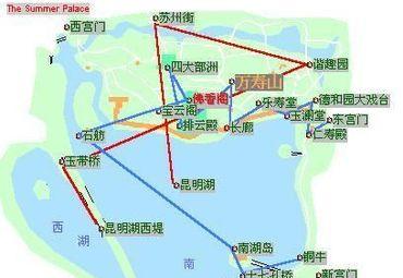 北京颐和园景点分布图.