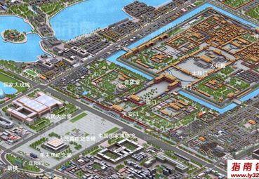 天安门广场位置图