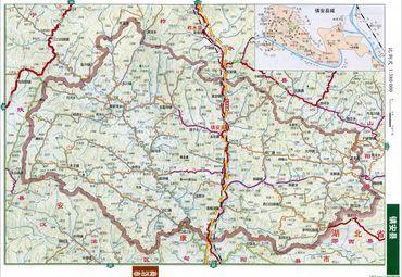 陕西省商洛市镇安县地图