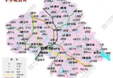 【钦州地图】钦州全图查询_2015广西钦州电子地图下载