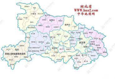 湖北省行政图