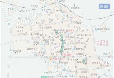 山西长治晋城城区地图.