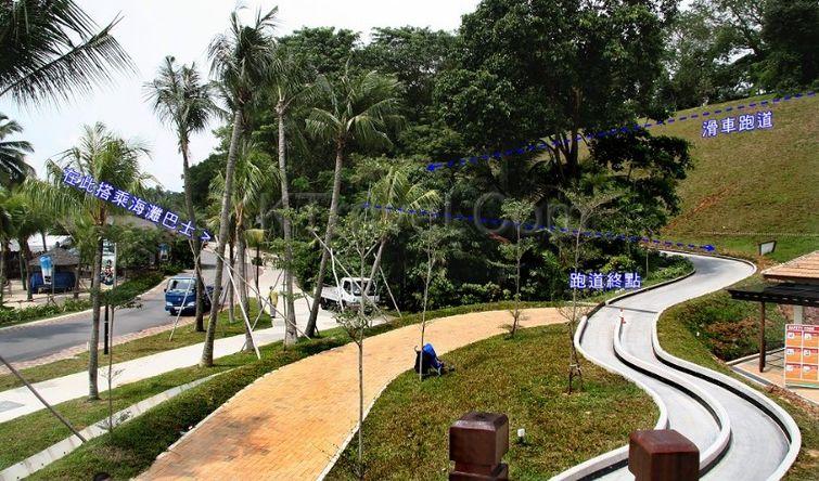 新加坡旅游景点示意图:-2016新加坡圣淘沙天际线斜坡滑车门票团