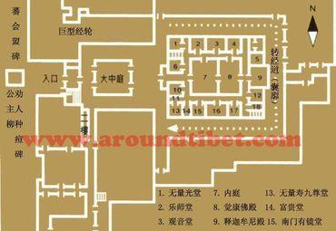 西藏大昭寺底层平面图.