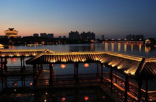 泰州鳳城河望海樓景區旅游景點大全