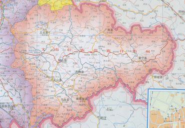 文山州地图