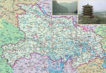 湖北省地图2