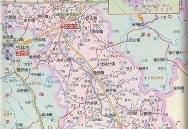 广西玉林北流市地图图片