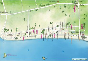 三亚湾地图