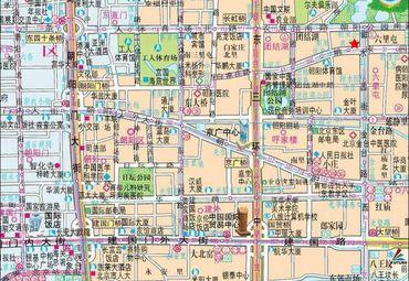 北京朝阳区旅游图