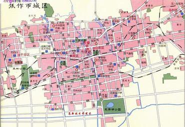 【焦作地图】_全图/查询_2014河南焦作电子地