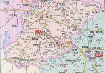 广西玉林兴业县地图图片