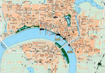 湖南常德市区地图
