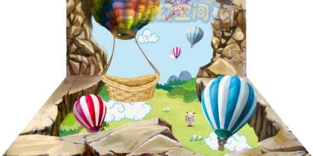 喜羊羊与灰太狼奇幻空间风景图片