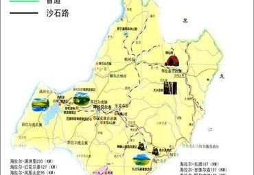 呼伦贝尔旅游地图