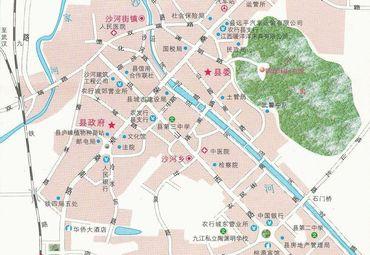 江西九江县城区地图