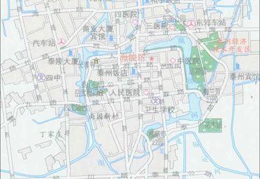 江苏泰州地�_【泰州地图】泰州全图查询_2016江苏泰州电子地图下载