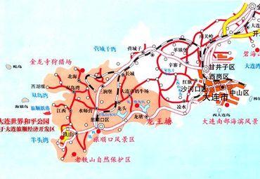 大连世界和平公园地图.