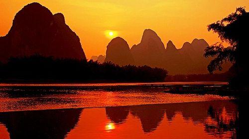 桂林大漓江三星船-银子岩