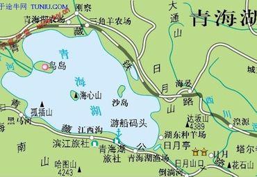 青海湖地图
