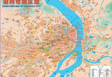 广东潮州市城区地图